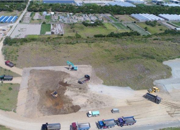 津波対策のための盛土工事(防潮堤) 施工状況の画像